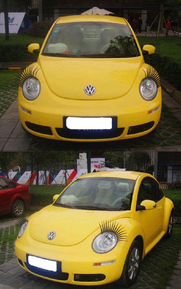 Cool Car False Eyelashes For Car Lamp Awesomeness Pinterest