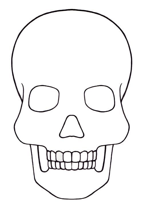 Skull Template mini - Day of the dead - Mexico: | Art Projects for ...