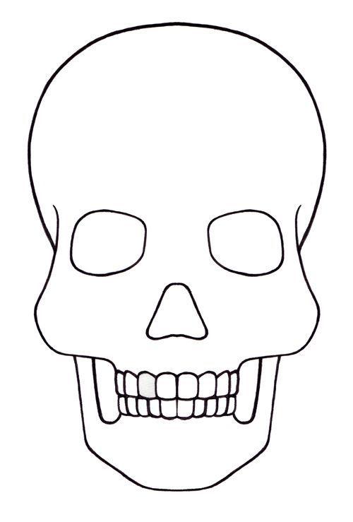 Skull Template Mini Day Of The Dead Mexico Sugar Skull