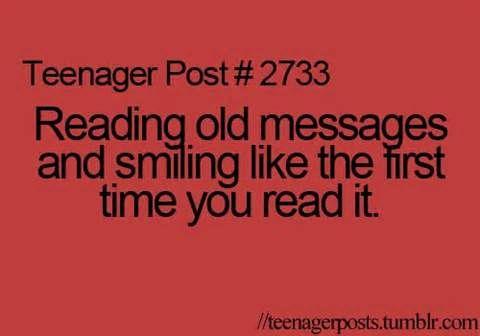 #ReadingOldMessages