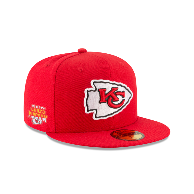 667b66a2 Kansas city chiefs team slogan red 59fifty fitted in 2019   NFL ...
