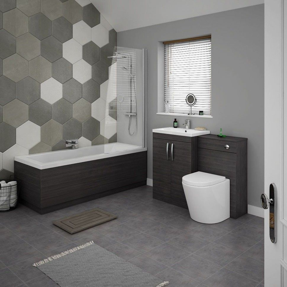 Five Shocking Facts About Contemporary Bathroom Ideas Uk A Baby Ablution Has Been Brought Up To Date With Able Adhesive Walls Hexagonal Attic Tiles And Able St Di 2020 Dengan Gambar