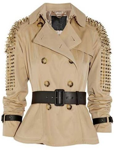 No hugs wearing this jacket. Lol  burberry studded trench coat