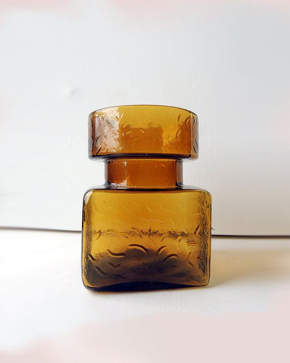 Helena Tynell For Riihimaen Lasi Vase Amber By Bringthenoise 29 00 Amber Glass Glass Art Glass Design