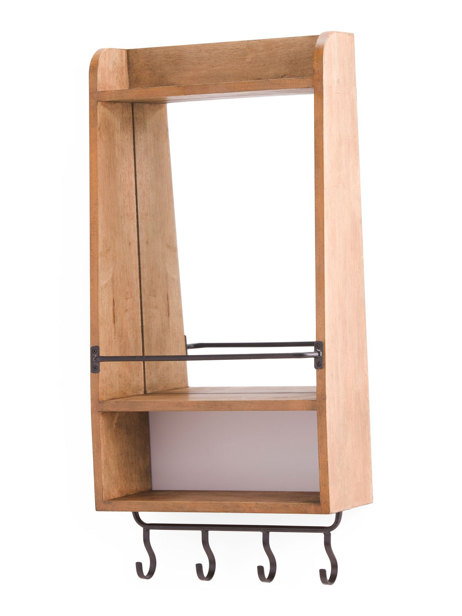 Wall Mirror With Hooks And Shelf in 2019 | District | Pinterest