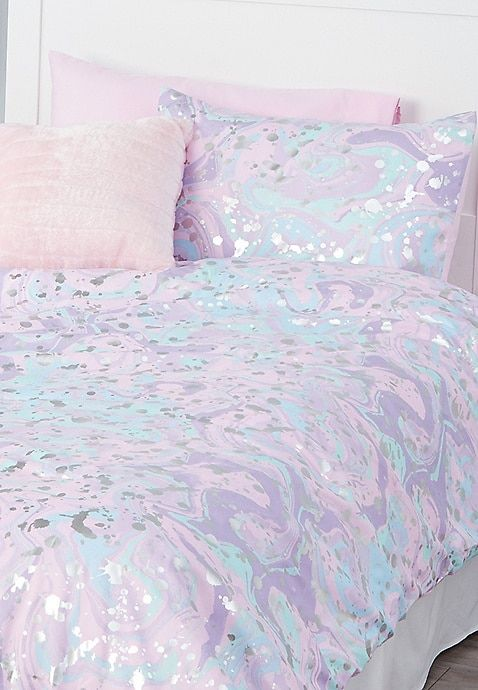 Marble 5 Piece Bed in a Bag   Twin Size For Girls   Tween girl