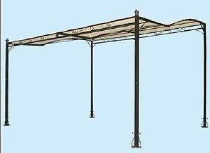 Gazebo Ferro Battuto Offerta.Dettagli Su Gazebo Pergola Veranda In Ferro Nero Mt 3 5 X 3
