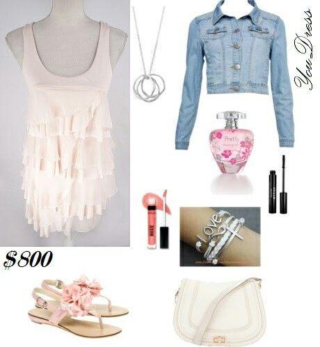 Vestido de gasa con volados rosa. Party summer look  https://m.facebook.com/YouDressUru