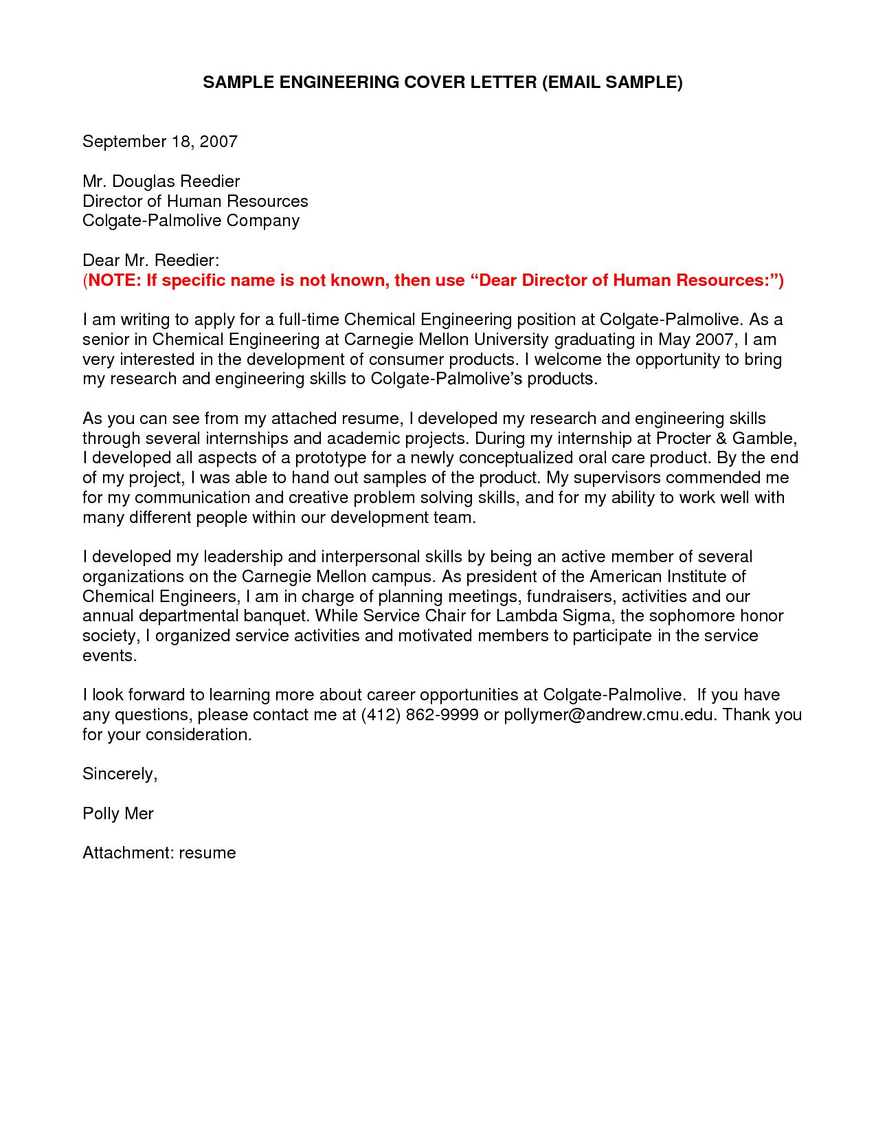 23+ Engineering Cover Letter Examples Sample resume