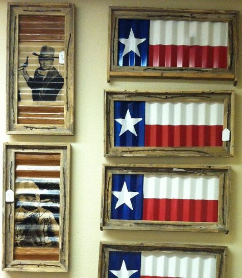 Texas Flag Metal Roof Decor Delia Flores Texas Flag