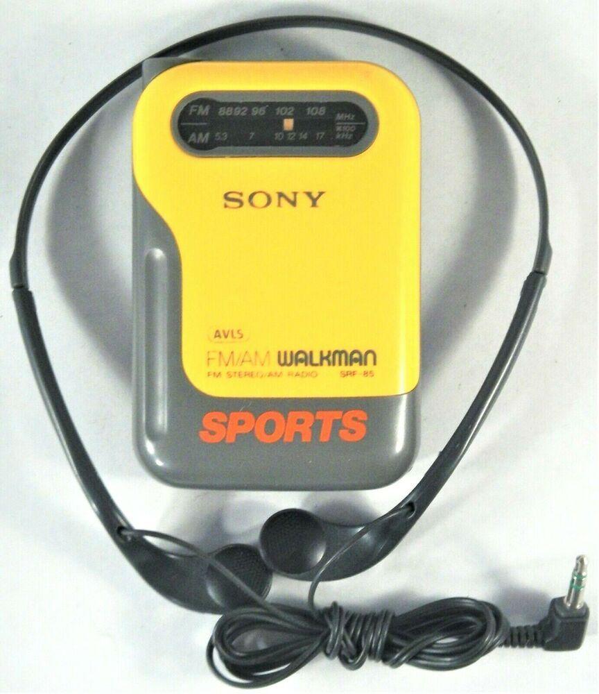 Details about SONY Walkman Sports SRF85 AVLS AM/FM