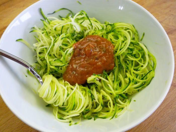 Zucchini Spaghetti with Marinara Sauce
