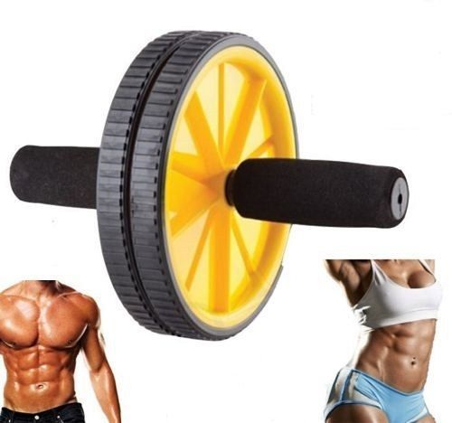 Fitness Equipment & Gear New Dual Ab Wheel Roller Abdominal Exercise Abs Training Workout Home Gym