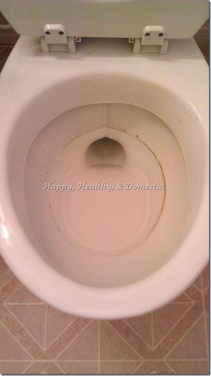 How to Clean Rust and Sediment Toilet Rings