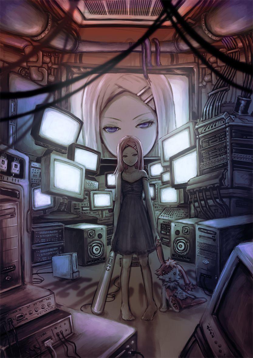 Keepout By Wacchi30 Deviantart Com On Deviantart Cyberpunk Anime Anime Otaku Room