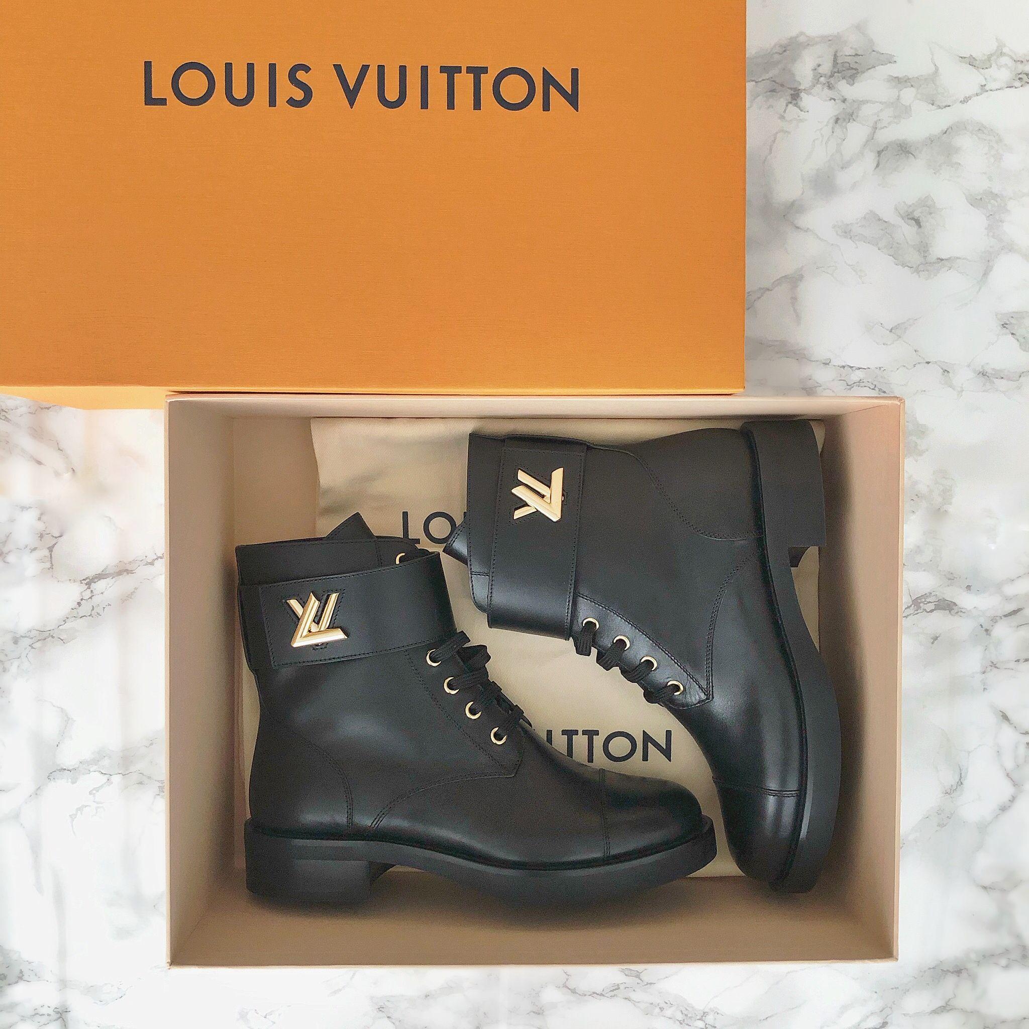 louis vuitton black boots