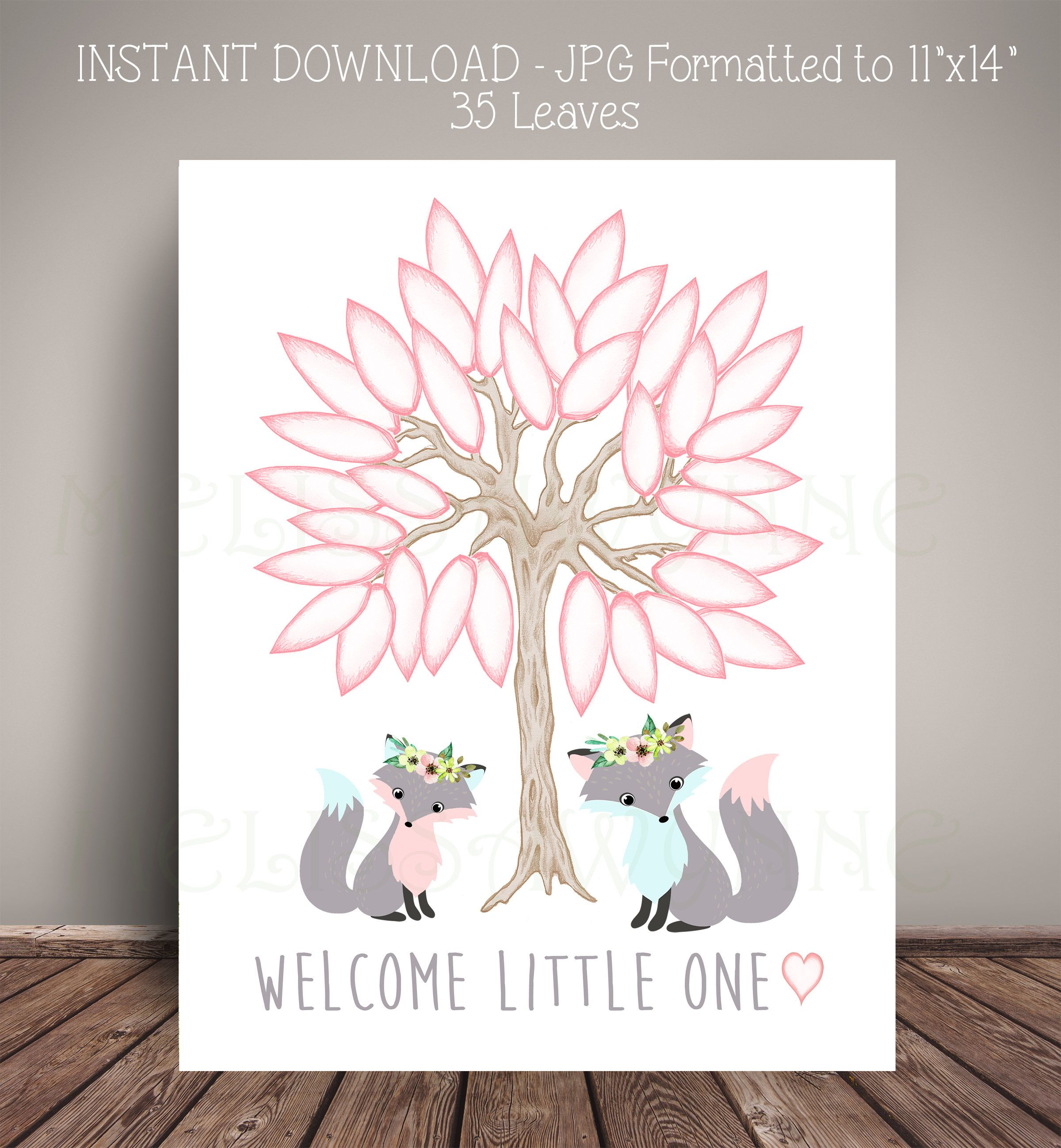Fox Baby Showers, Woodland Baby Showers, Baby Foxes, Guest Book Alternatives,  Baby Shower Themes, Guest Books, Alternative Art, Art Print