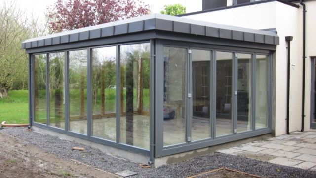 Sunroom - bi-fold doors & Sunroom - bi-fold doors | Alu Clad Windows | Pinterest | Bi fold ...