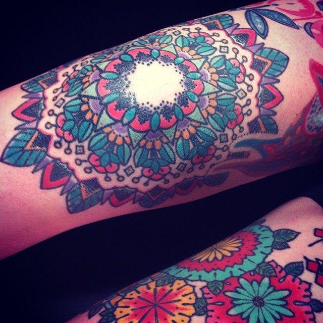 Knew tattoo. Mandala. Jenn Small Holiday