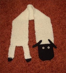 a lamb as scarf