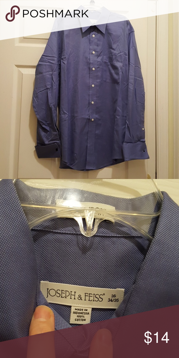 Joseph & Feiss Button down Shirt 16 34/35 This Joseph & Feiss Button down Shirt is in Excellent Condition. I don't think it's even been worn once. This is a shirt from Men's Wearhouse and costs about $75.  Size 16 34/35 Joseph & Feiss Shirts Dress Shirts