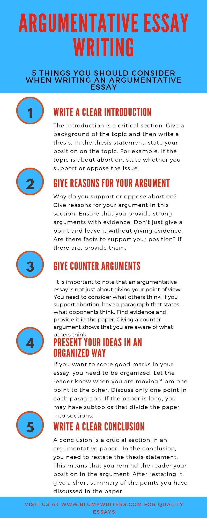 how to effectively write an argumentative essay