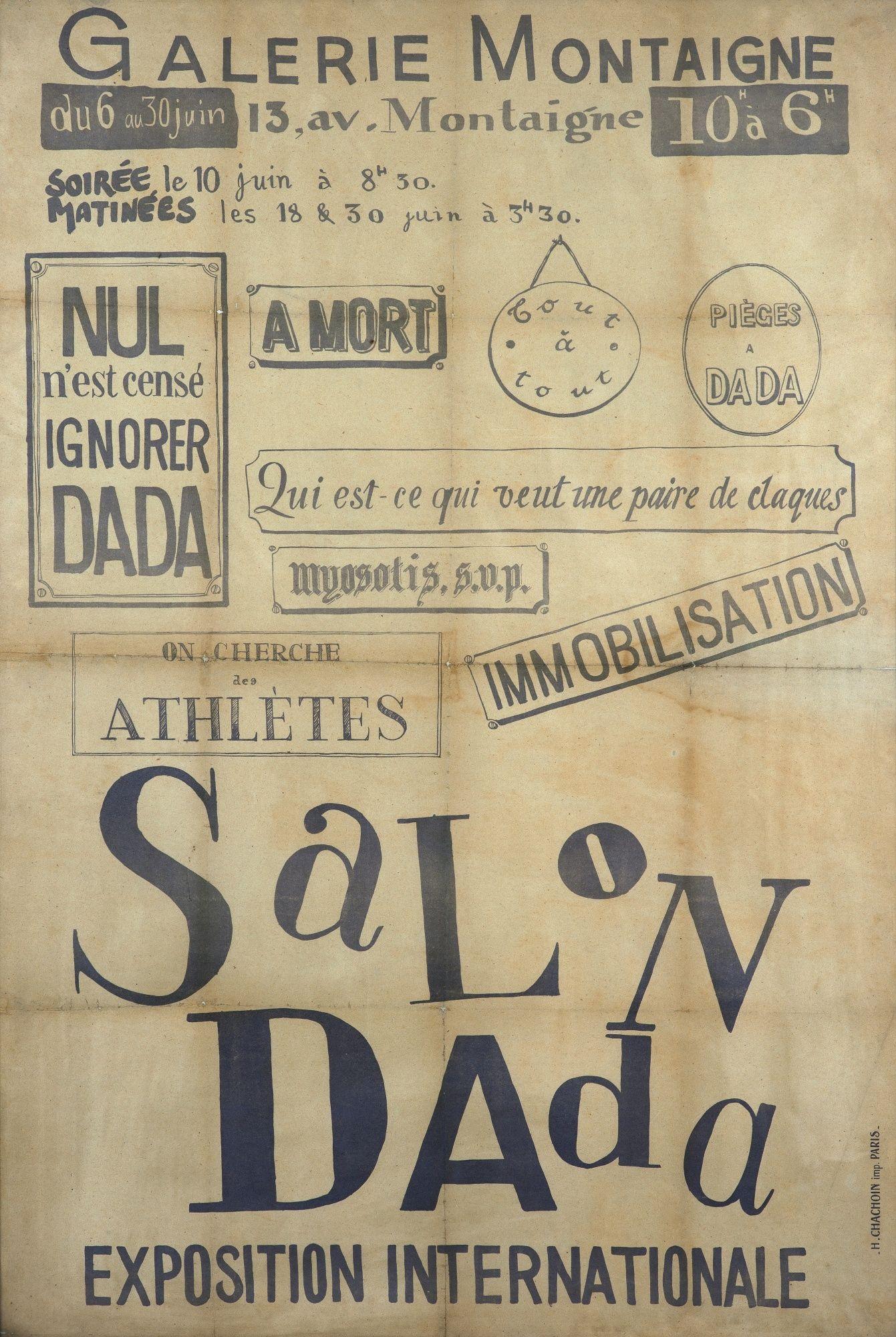 Salon Dada Paris Galerie Montaigne Exposition Internationale 6