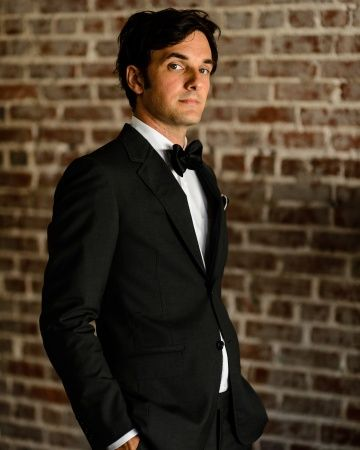 Dashing groom in a Lanvin suit