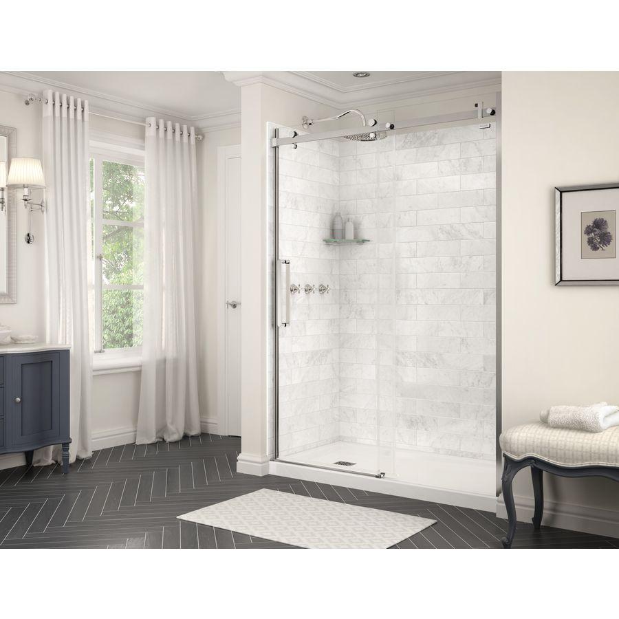 MAAX Utile Marble Carrara Shower Wall Surround Back Wall Panel ...