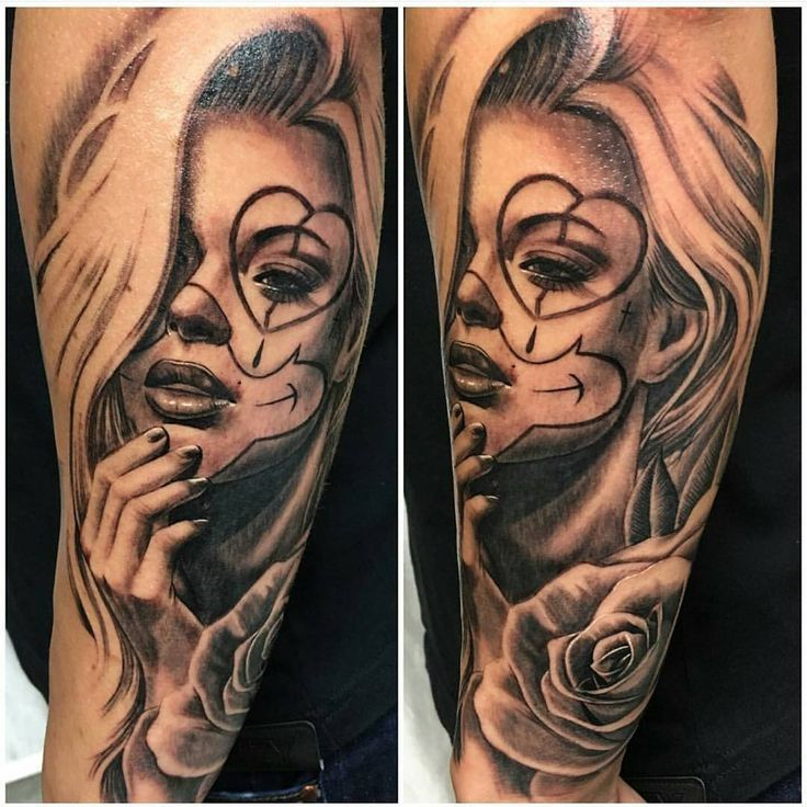 Clown Girl Tattoo Meaning: Image Result For Black And Grey Chicano Tattoos