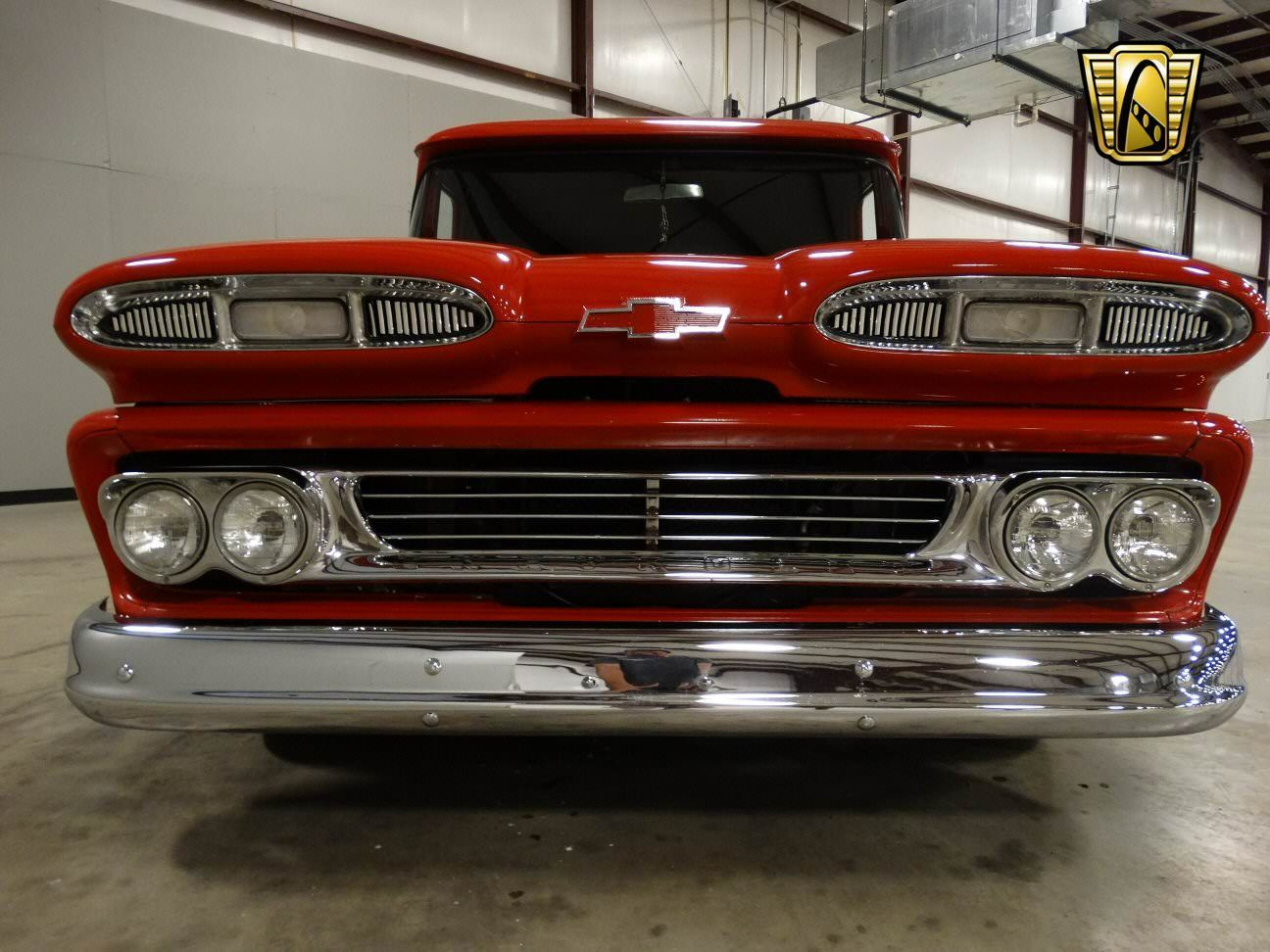 For sale in our louisville kentucky showroom is a red 1960 chevrolet apache panel truck 454 cid turbo 400