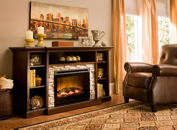 Merrick 65 Tv Console W 25 Electric Fireplace Home Home N