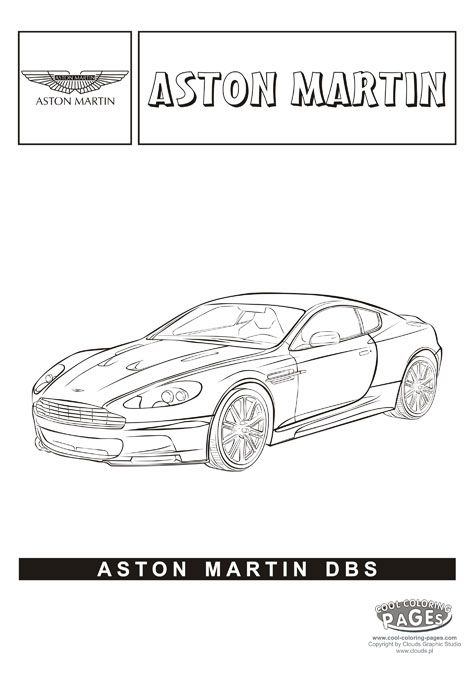 Aston Martin DBS - Cars coloring pages | Cars coloring pages ...