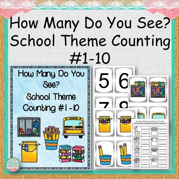 How Many Do You See? School Theme Counting #1 -10 | School themes ...