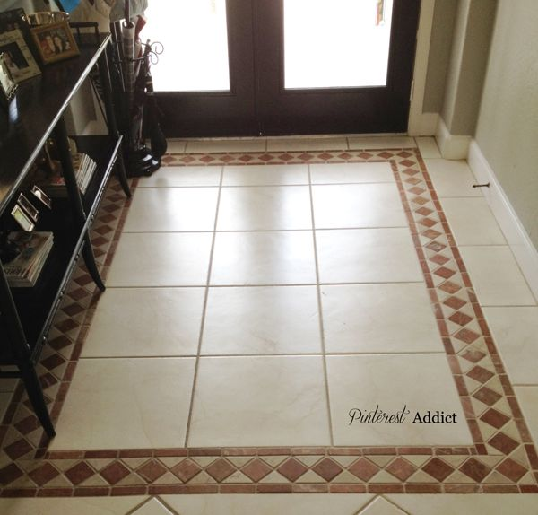 Painting floor tile front entry tile design and front for Entrance flooring ideas