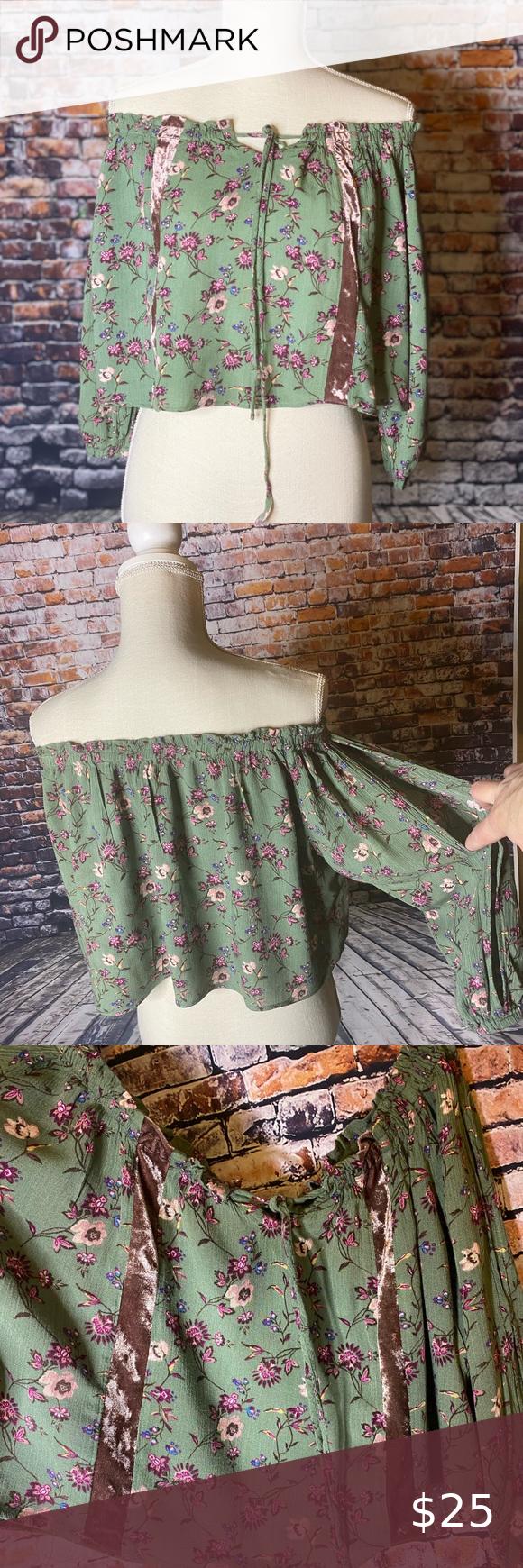 Photo of True Craft Bohemian Crop Top Women's size small crop top in …