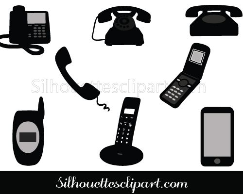 49++ Cell phone clipart silhouette ideas