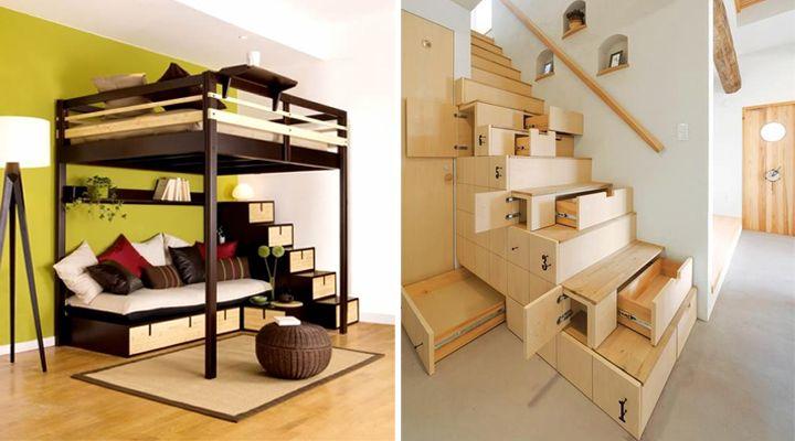 Cajones en escaleras home inspiration pinterest - Escaleras para casas pequenas ...