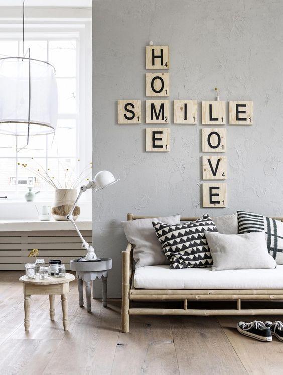 Diy créer un décor mural avec des mots