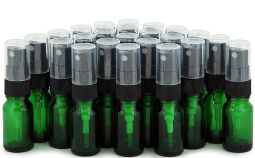 24pc Small Glass Spray Bottle Set 10ml Fine Mist Sprayer With Cap Green Black Fine Mist Sprayer Glass Spray Bottle Glass Bottles