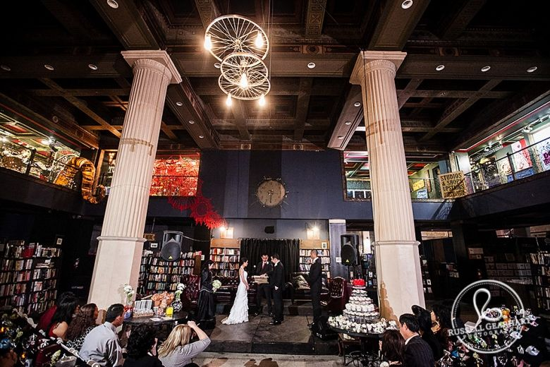 The Last Bookstore Wedding Jane Alfonso Wedding Venue Los Angeles Wedding Los Angeles Wedding Venues