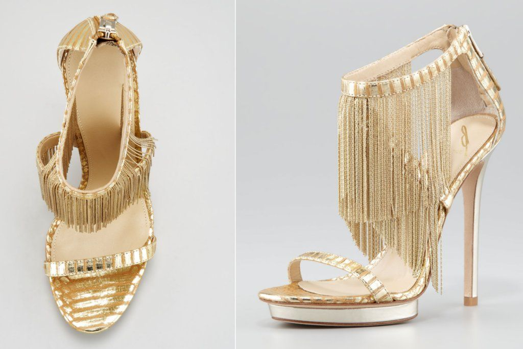 gold fringe heels | If The Shoe Fits..Buy It In Every Color ...