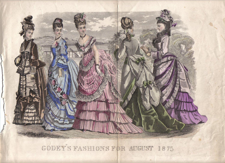 August, 1875 - Godeys Fashions