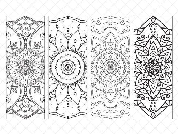 Printable Coloring Bookmarks Mandala To Color Adult