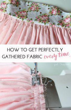Sewing Basics: Gathering #sewing