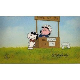 Legal Beagle Vs Judge Lucy Animation Art Peanuts Limited