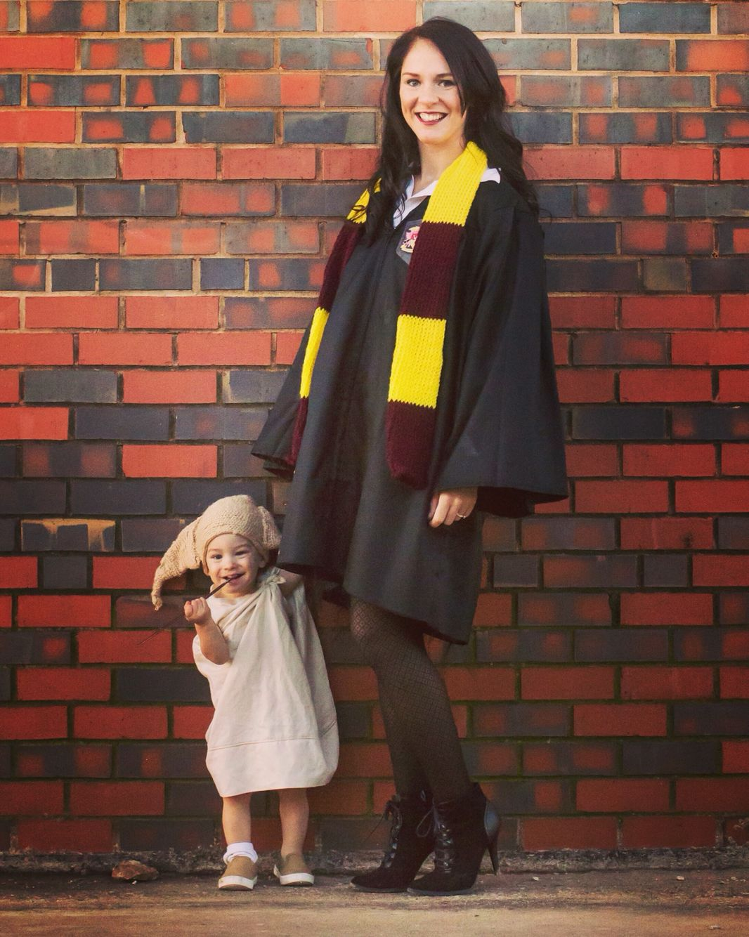 Mom And Baby Boy Matching Halloween Costumes.Harry Potter And Dobby Costume Diy Hermione Granger And