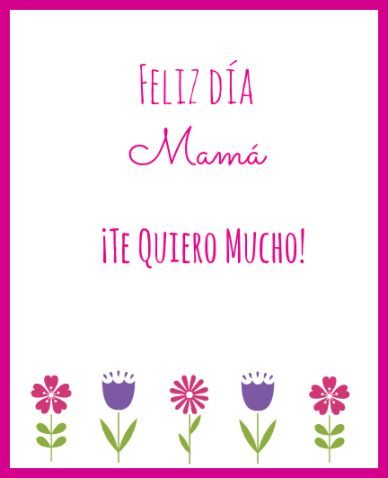 Free Printable Mother\u0027s Day Cards in Spanish and English Mother\u0027s