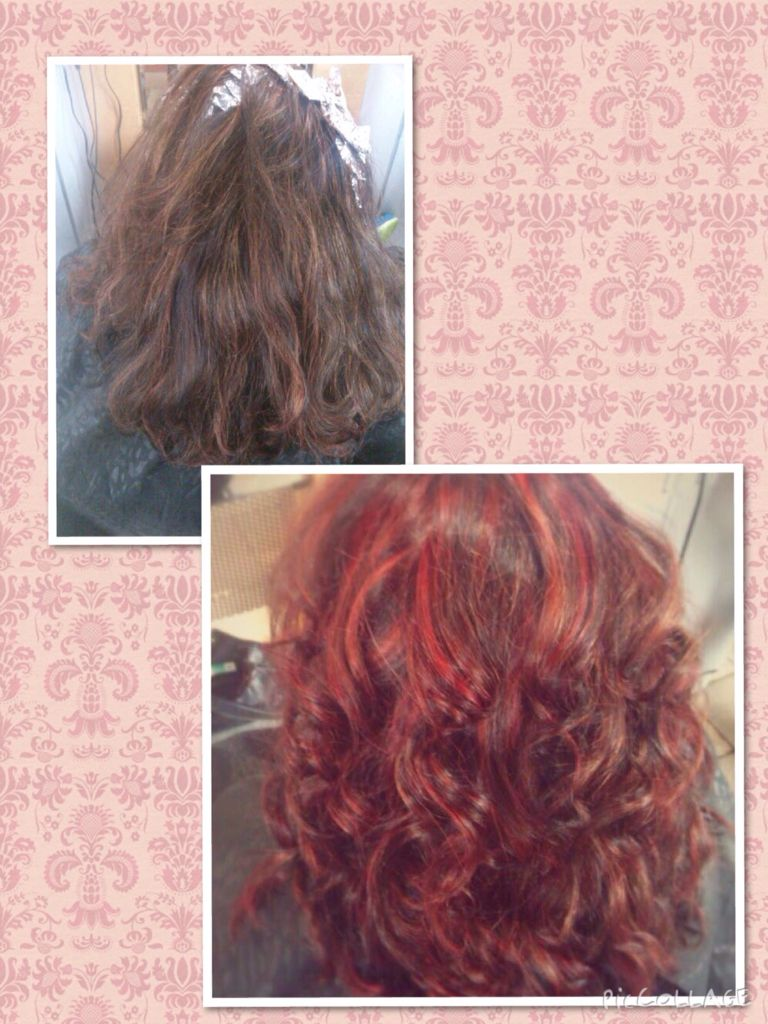 Color correction and bold red highlights