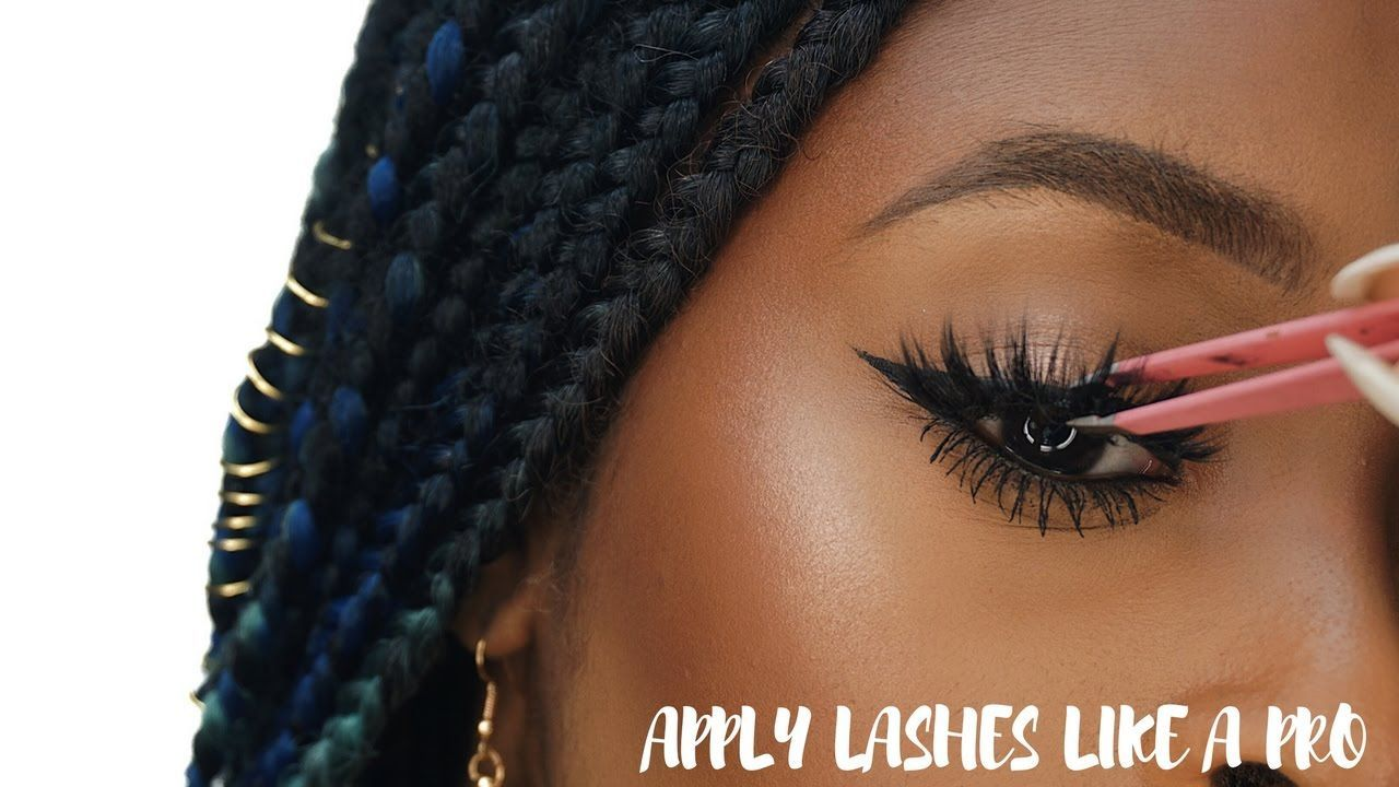 How to apply false eyelashes for beginners (Simple, Easy ...
